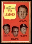 1962 Topps #57   -  Whitey Ford / Jim Bunning / Frank Lary / Steve Barber AL Pitching Leaders Front Thumbnail