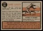 1962 Topps #586  Sammy Esposito  Back Thumbnail
