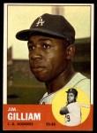 1963 Topps #80  Jim Gilliam  Front Thumbnail