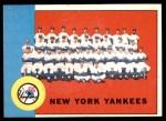1963 Topps #247   Yankees Team Front Thumbnail