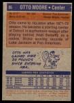 1972 Topps #86  Otto Moore   Back Thumbnail