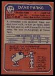 1973 Topps #179  Dave Parks  Back Thumbnail