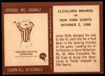 1967 Philadelphia #193   Browns Highlight Back Thumbnail