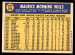 1970 Topps #595  Maury Wills  Back Thumbnail
