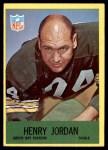 1967 Philadelphia #78  Henry Jordan  Front Thumbnail