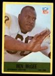 1967 Philadelphia #154  Ben McGee  Front Thumbnail