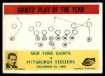 1964 Philadelphia #126   -  Allie Sherman Giants Play of the Year Front Thumbnail