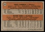 1972 Topps #392   -  Richie Zisk / Fred Camria Pirates Rookies   Back Thumbnail