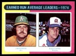 1975 Topps #311   -  Catfish Hunter / Buzz Capra ERA Leaders Front Thumbnail