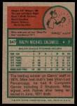 1975 Topps #347  Mike Caldwell  Back Thumbnail