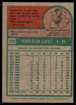 1975 Topps #325  Tony Oliva  Back Thumbnail