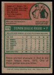 1975 Topps #173  Steve Rogers  Back Thumbnail