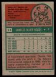 1975 Topps #71  Charlie Hough  Back Thumbnail