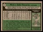 1979 Topps #545  John Stearns  Back Thumbnail