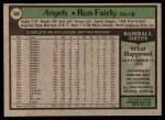 1979 Topps #580  Ron Fairly  Back Thumbnail