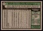 1979 Topps #467  Don Kessinger  Back Thumbnail