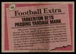 1977 Topps #454   -  Fran Tarkenton Record Breaker Back Thumbnail
