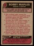 1977 Topps #143  Bobby Maples  Back Thumbnail