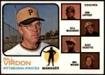 1973 Topps #517 BRN  -  Bill Virdon / Don Leppert / Bill Mazeroski / Dave Ricketts / Mel Wright Pirates Leaders Front Thumbnail
