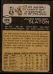 1973 Topps #628  Jim Slaton  Back Thumbnail