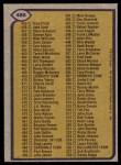 1979 Topps #486   Checklist 397-528 Back Thumbnail