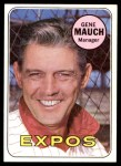1969 Topps #606  Gene Mauch  Front Thumbnail
