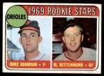 1969 Topps #66   -  Merv Rettenmund / Mike Adamson Orioles Rookies Front Thumbnail