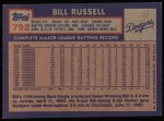 1984 Topps #792  Bill Russell  Back Thumbnail