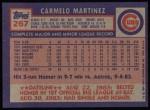 1984 Topps #267  Carmelo Martinez  Back Thumbnail