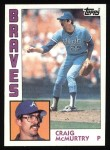 1984 Topps #543  Craig McMurtry  Front Thumbnail