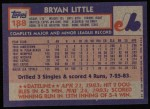 1984 Topps #188  Bryan Little  Back Thumbnail