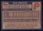 1984 Topps #358  Bob Dernier  Back Thumbnail