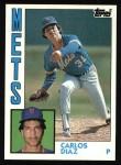 1984 Topps #524  Carlos Diaz  Front Thumbnail