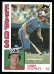1984 Topps #732  Terry Crowley  Front Thumbnail