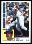 1984 Topps #143  Jose Morales  Front Thumbnail