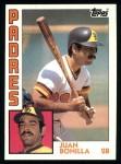1984 Topps #168  Juan Bonilla  Front Thumbnail
