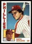 1984 Topps #185  Sixto Lezcano  Front Thumbnail