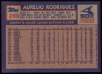 1984 Topps #269  Aurelio Rodriguez  Back Thumbnail