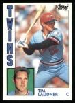 1984 Topps #363  Tim Laudner  Front Thumbnail