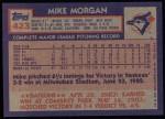 1984 Topps #423  Mike Morgan  Back Thumbnail