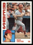 1984 Topps #526  Ron Oester  Front Thumbnail