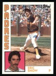 1984 Topps #532  Eric Show  Front Thumbnail