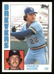 1984 Topps #751  Charlie Moore  Front Thumbnail