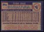 1984 Topps #773  Todd Cruz  Back Thumbnail