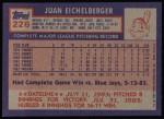 1984 Topps #226  Juan Eichelberger  Back Thumbnail