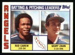 1984 Topps #276   -  Rod Carew / Geoff Zahn Angels Leaders & Checklist Front Thumbnail