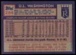 1984 Topps #294  U.L. Washington  Back Thumbnail