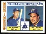 1984 Topps #336   -  Pat Putnam / Matt Young Mariners Leaders & Checklist Front Thumbnail