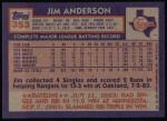 1984 Topps #353  Jim Anderson  Back Thumbnail