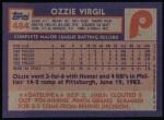 1984 Topps #484  Ozzie Virgil  Back Thumbnail
